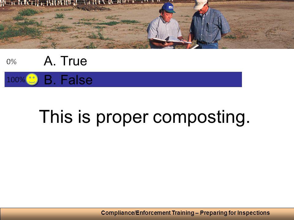 This is proper composting. A.True B.False