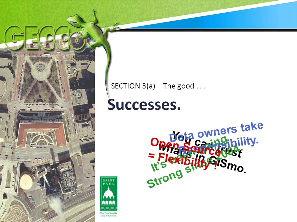 Successes.SECTION 3(a) – The good... You can trust what's in GISmo.