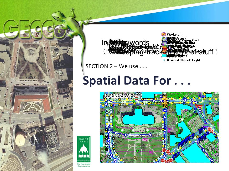 Spatial Data For...SECTION 2 – We use...