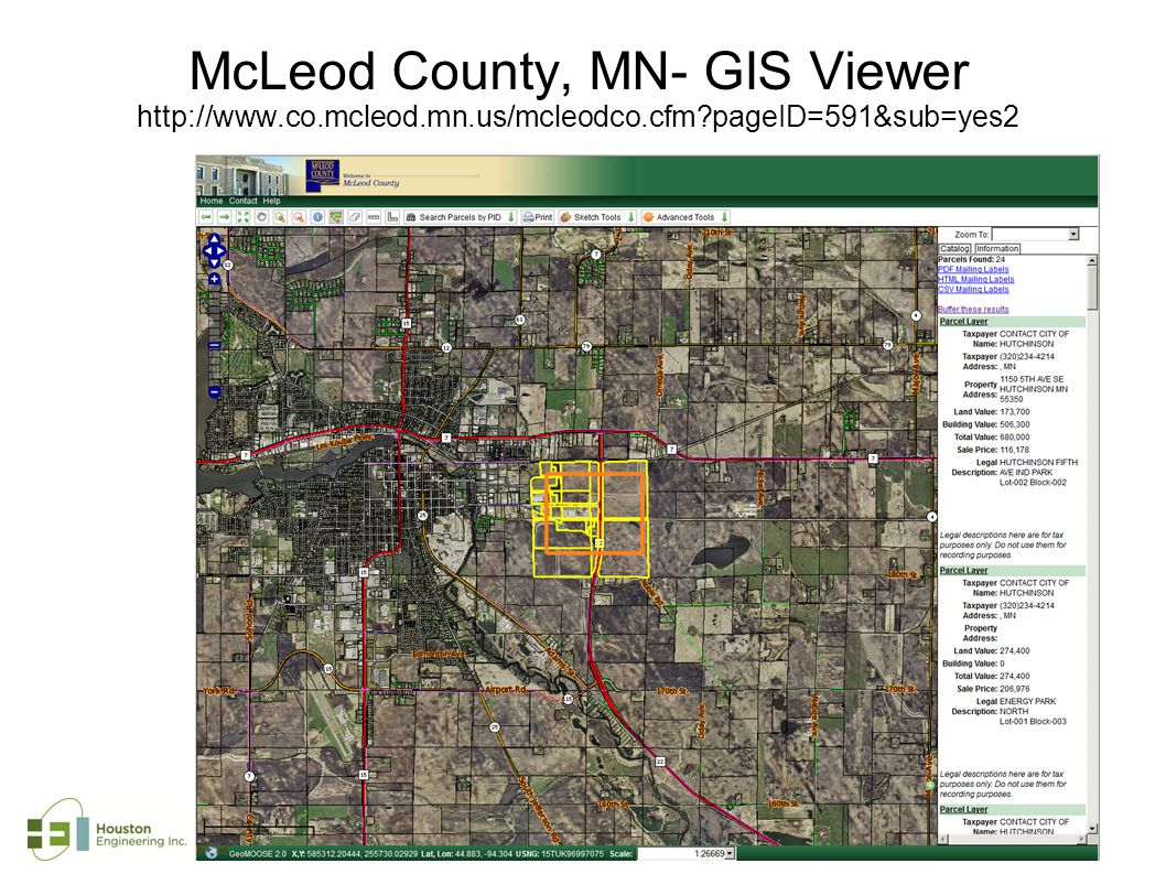 McLeod County, MN- GIS Viewer http://www.co.mcleod.mn.us/mcleodco.cfm pageID=591&sub=yes2