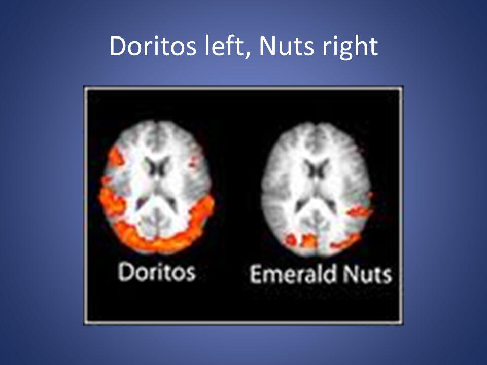 Doritos left, Nuts right