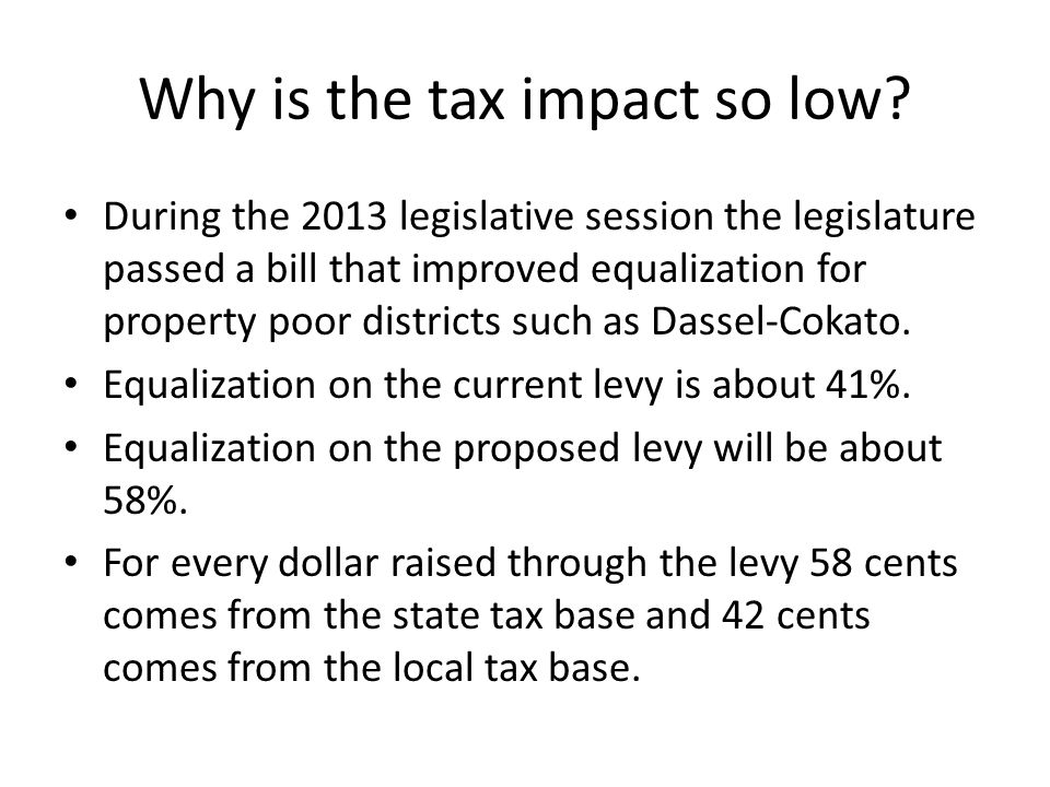 Why is the tax impact so low.
