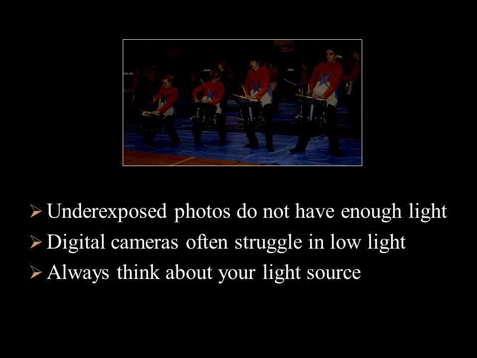 Consider direction of light source