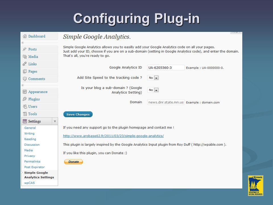 Configuring Plug-in