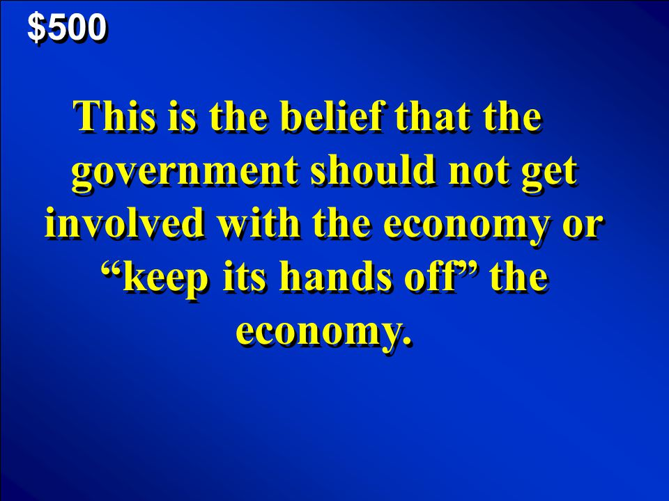 © Mark E. Damon - All Rights Reserved $400 Scores What is deficit spending?