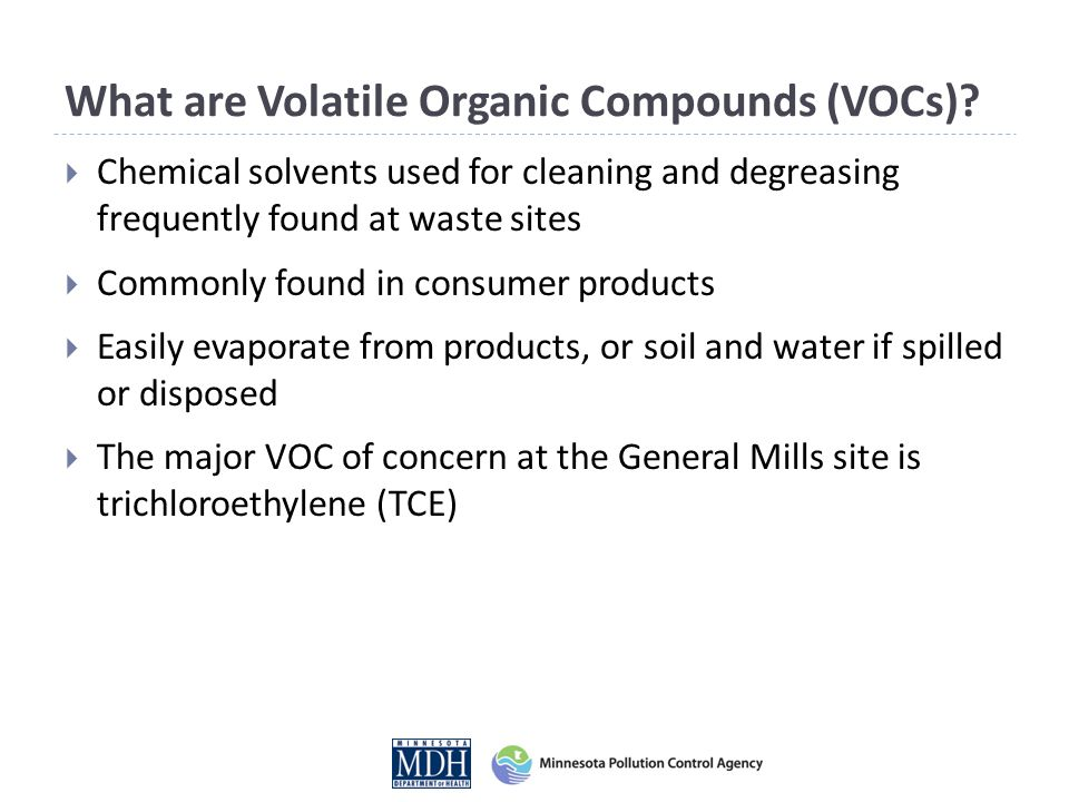 What are Volatile Organic Compounds (VOCs).