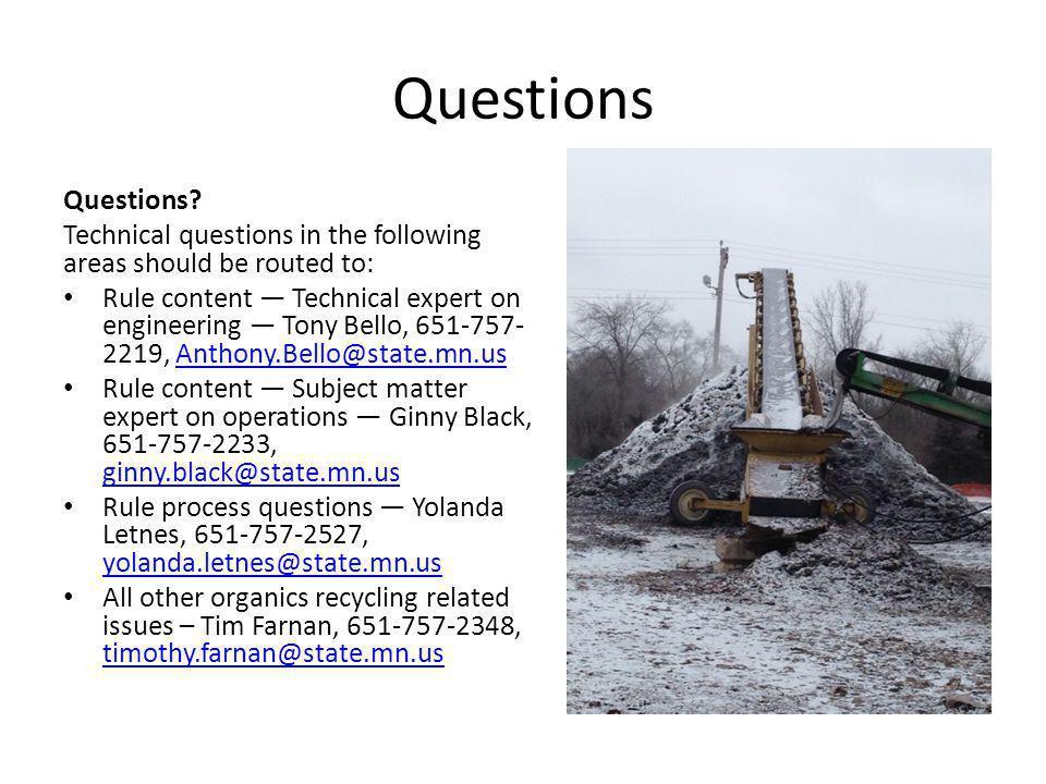 Questions Questions.