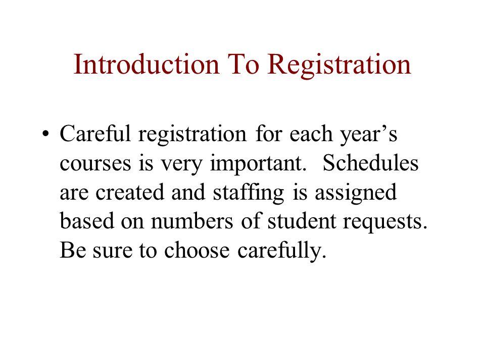 Registration Notes Sign up for 14 classes, plus 3 alternates.