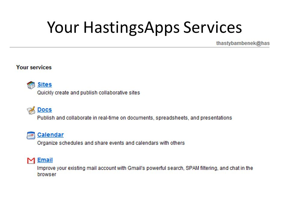 Your HastingsApps Services