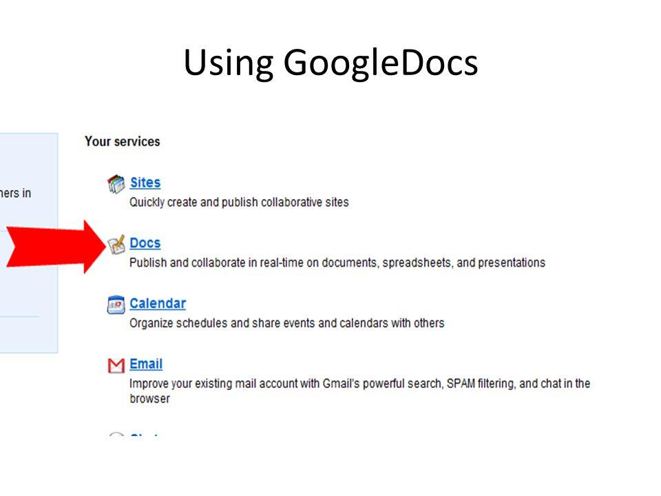 Using GoogleDocs