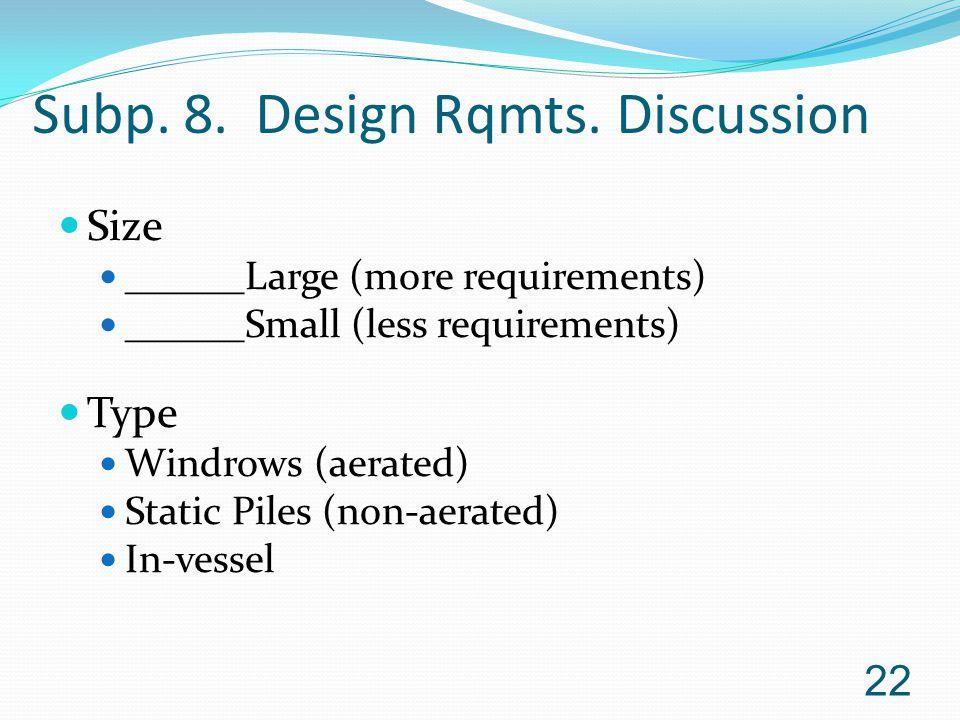 Subp.8. Design Rqmts.