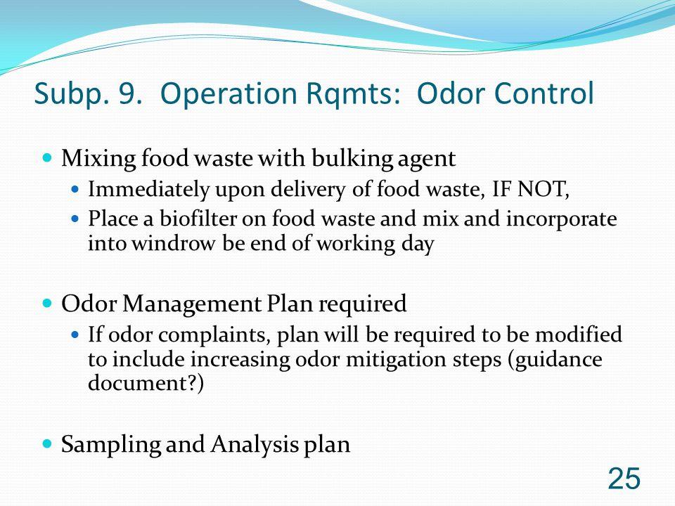 Subp.9. Operation Rqmts.