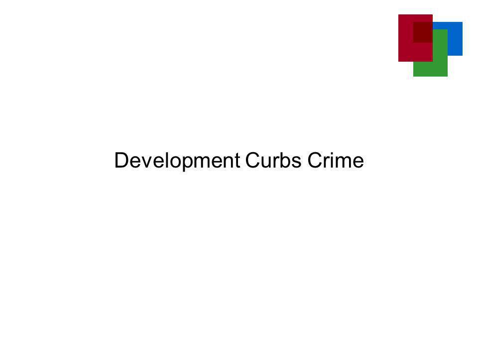 Development Curbs Crime