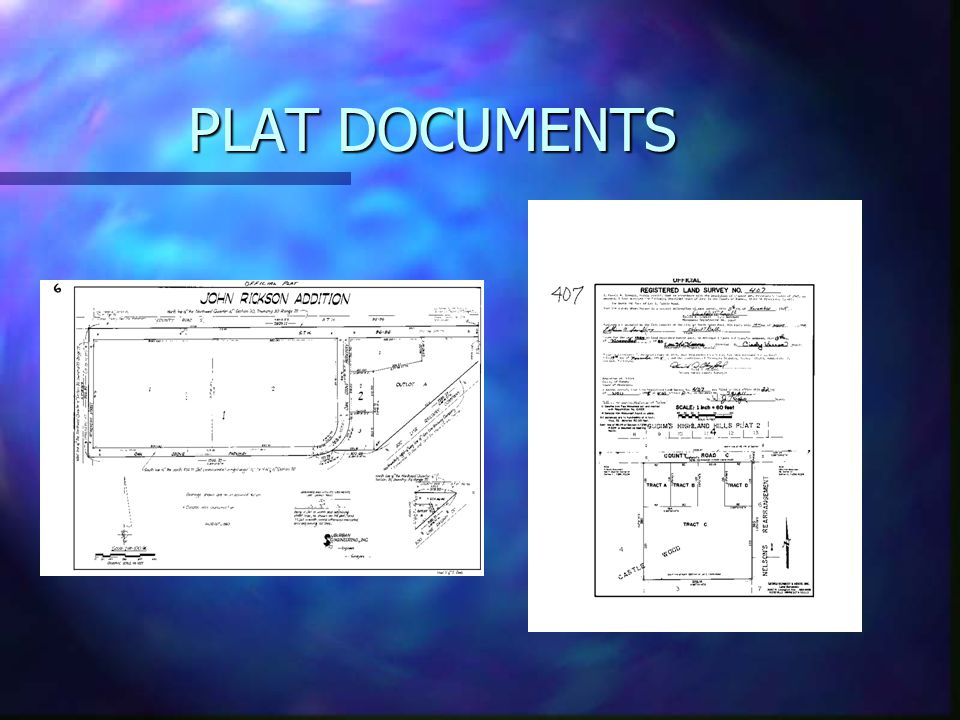 PLAT DOCUMENTS