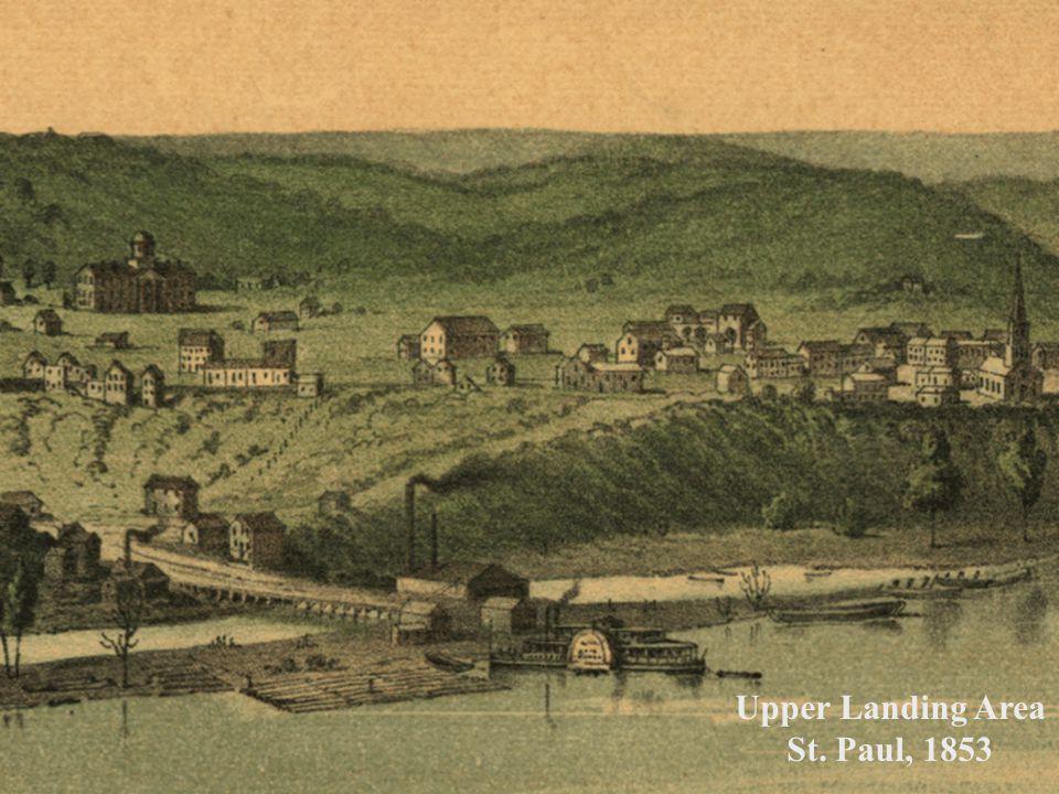 Upper Landing Area St. Paul, 1853