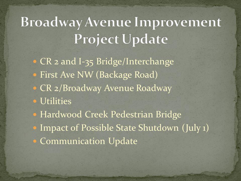 Washington County Engineer Wayne Sandberg to give a more detailed presentation at City Council meeting tonight – 7PM.