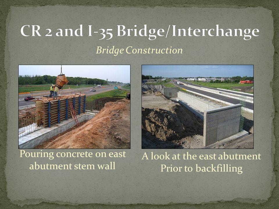 Bridge Construction Excavation for the center pier (In I-35 median)