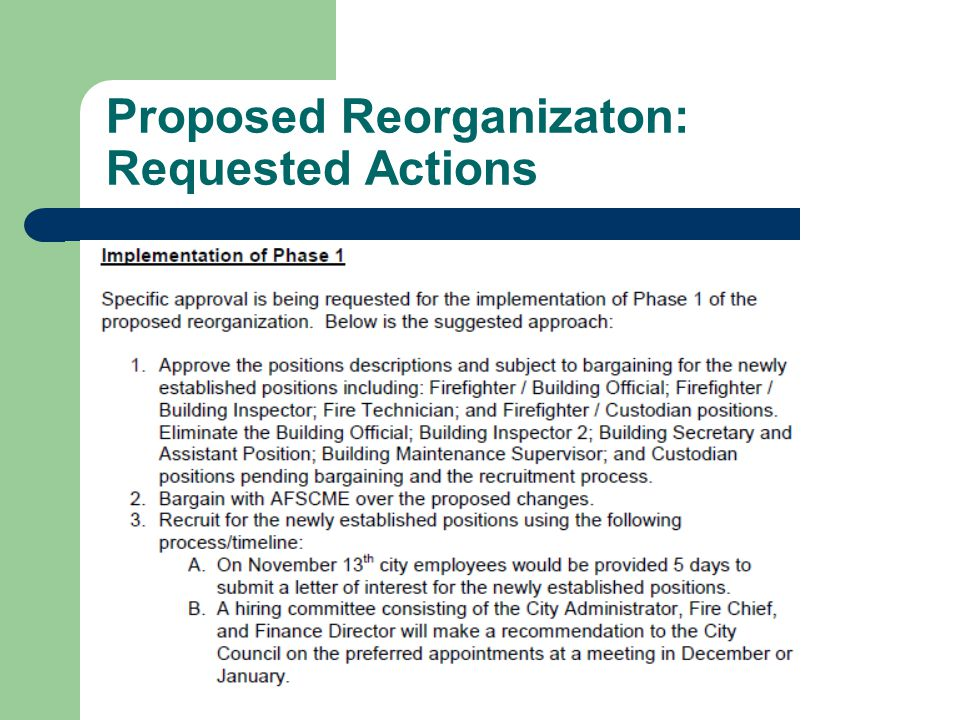 Proposed Reorganizaton: Requested Actions 35