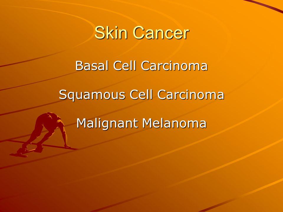 Skin Cancer Basal Cell Carcinoma Squamous Cell Carcinoma Malignant Melanoma