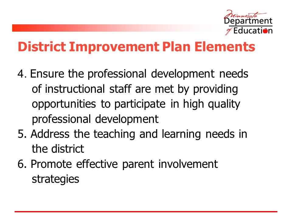 District Improvement Plan Elements 4.