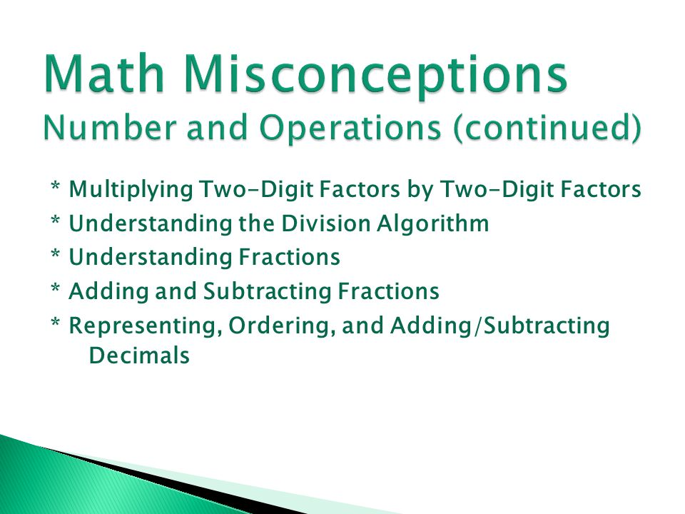 What to Look For * Students verbalize the decimal fraction correctly.