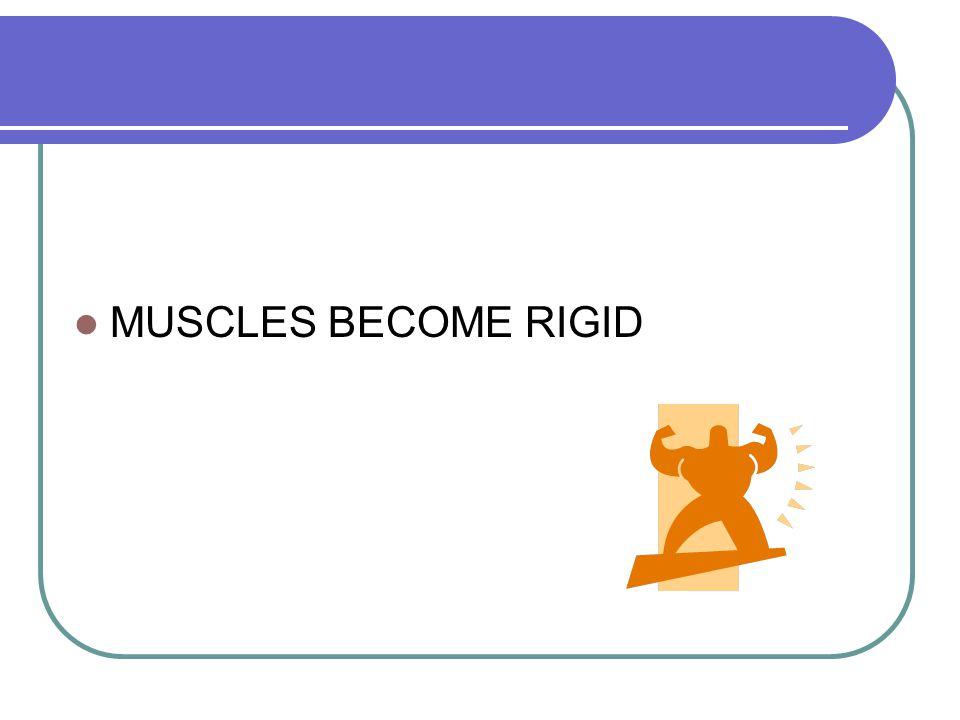 MUSCLES BECOME RIGID