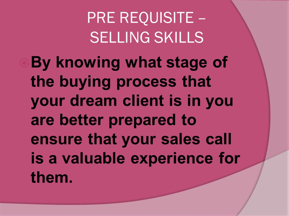  If you are ready to get that sale, take a deep breath and relax. As long as you are prepared and understand what you are doing, you will do just fin