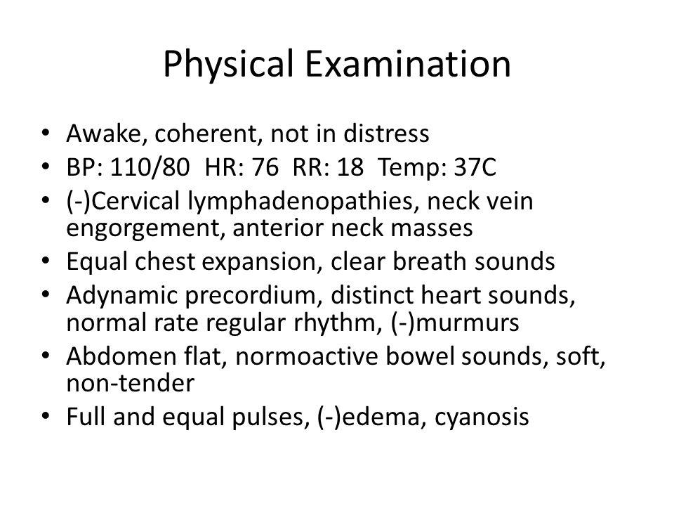 Physical Examination VA : OD 20/20 OS No light Perception Gross: EOM: Tonometry: OD softOS: firm Funduscopy: OD (+) ROR, CM, AVR 2:3, DDB 0.3, (-)h/e OS (-) ROR (+) erythema (+) swelling 2-3mm BRTL OD