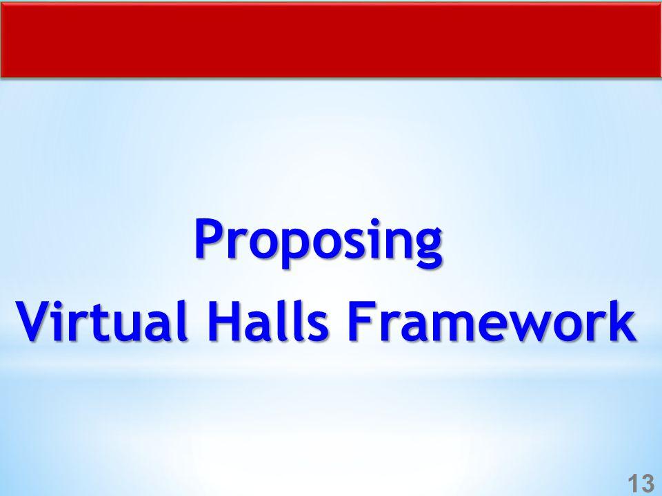Proposing Virtual Halls Framework 13