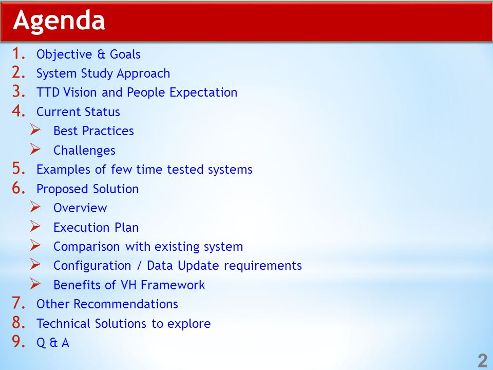 Agenda 1. Objective & Goals 2. System Study Approach 3.