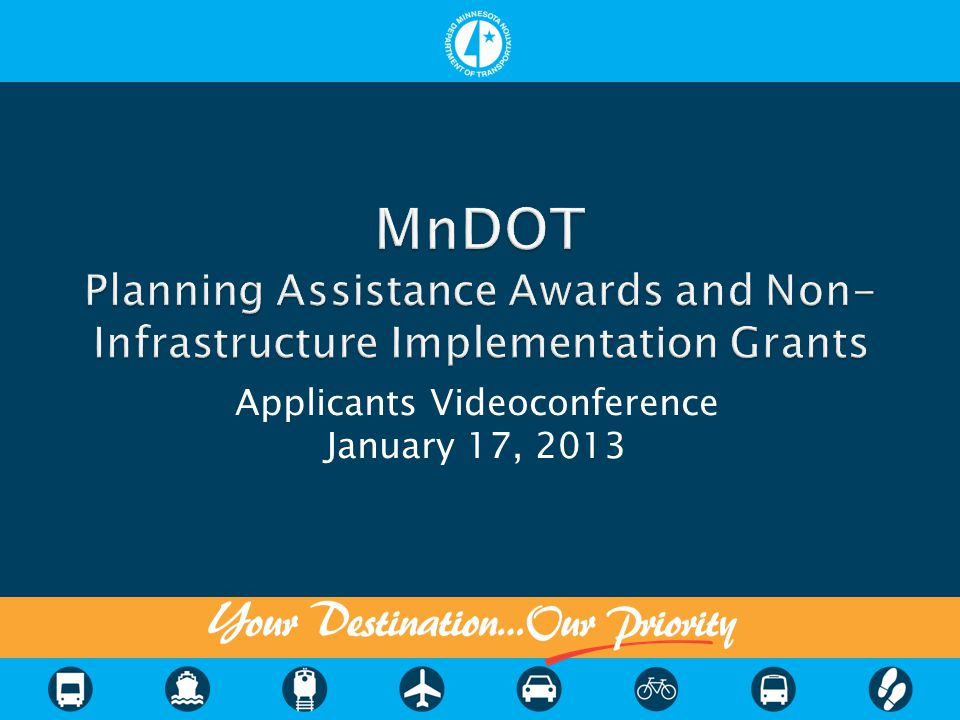  MnDOT funding began in 2005 with federal transportation bill (SAFETEA-LU)  This solictation uses remaining SAFETEA-LU funds  Future federal funding is not guaranteed but some will likely be available for FY2015-16