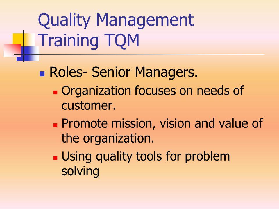 Quality Management Training TQM Roles- middle Managements.