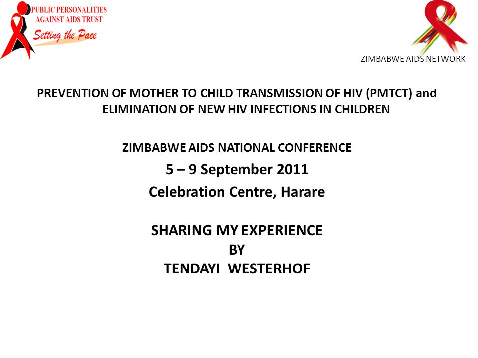 ZIMBABWE AIDS NETWORK PREVENTION OF MOTHER TO CHILD TRANSMISSION OF HIV (PMTCT) and ELIMINATION OF NEW HIV INFECTIONS IN CHILDREN ZIMBABWE AIDS NATION