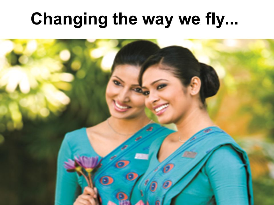 Changing the way we fly...
