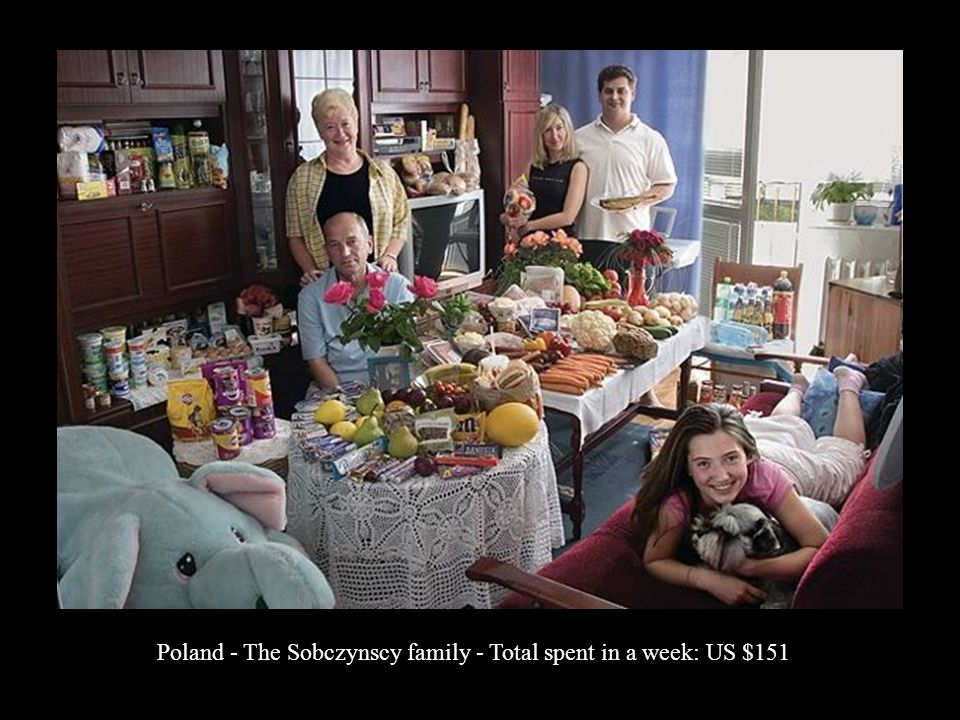 Poland - The Sobczynscy family - Total spent in a week: US $151