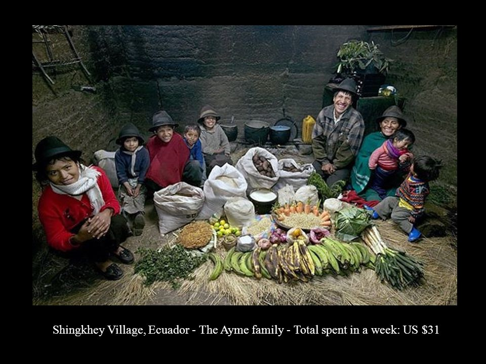 Shingkhey Village, Ecuador - The Ayme family - Total spent in a week: US $31