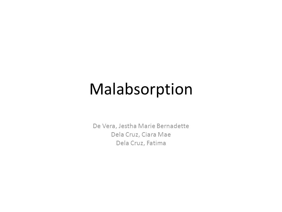 Malabsorption De Vera, Jestha Marie Bernadette Dela Cruz, Ciara Mae Dela Cruz, Fatima
