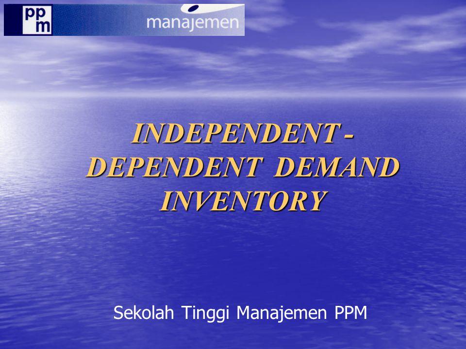 INDEPENDENT - DEPENDENT DEMAND INVENTORY Sekolah Tinggi Manajemen PPM