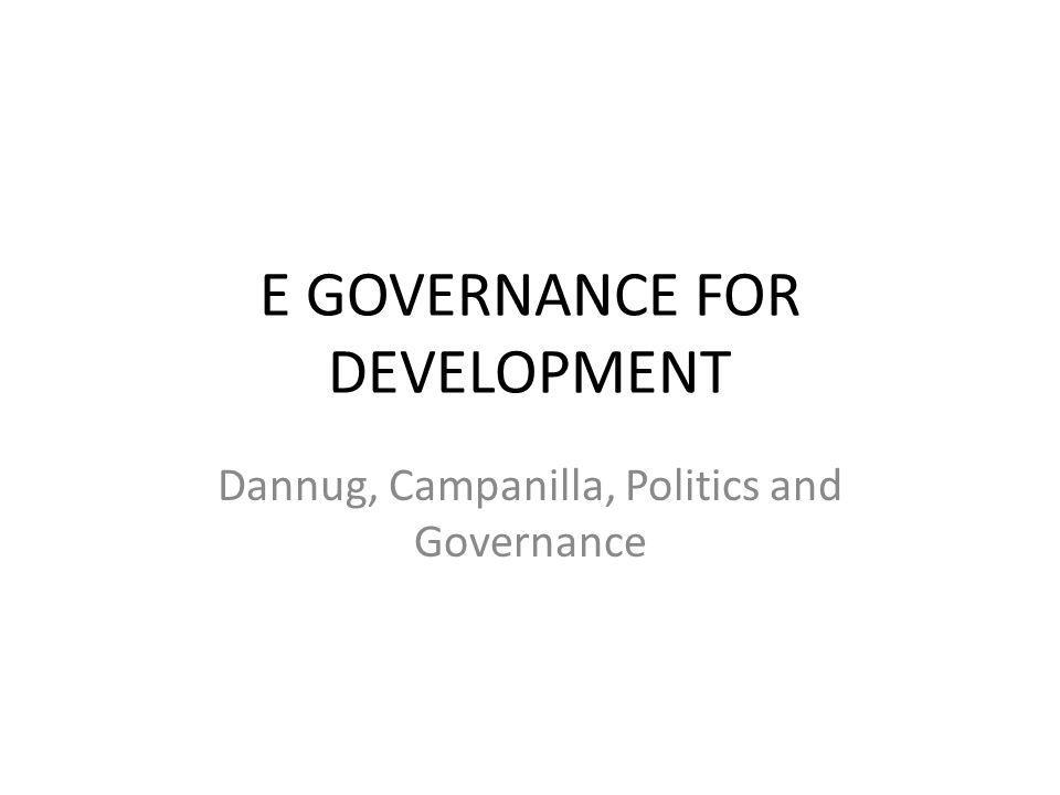 What is E Governance.