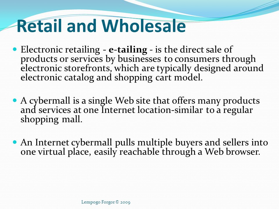 Electronic Payment Systems Electronic payment systems are a key component of the e-commerce infrastructure.