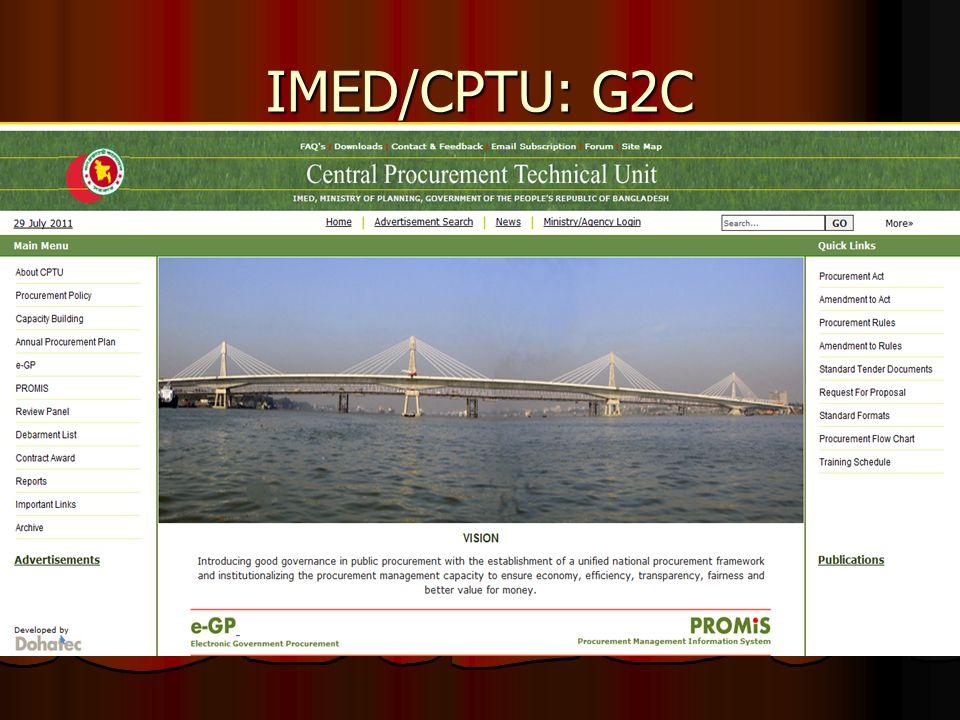 IMED/CPTU: G2C