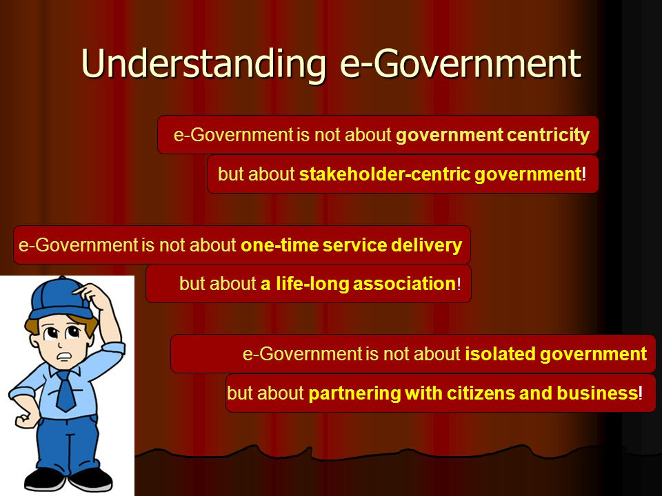 e-Government Implementation Strategy Administrative Issues Administrative Issues Need-Assessment for IT System Need-Assessment for IT System Document preparation Document preparation IT System Development IT System Development IT System Maintenance and Sustainability IT System Maintenance and Sustainability IT Training IT Training