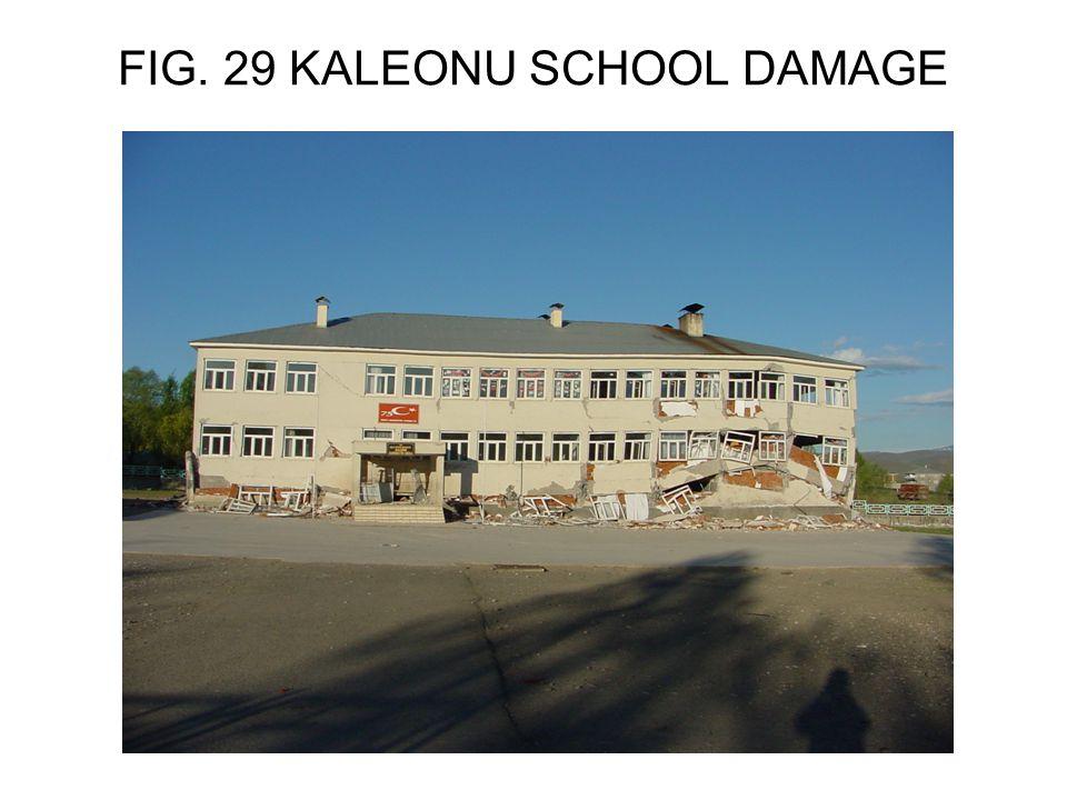 FIG. 29 KALEONU SCHOOL DAMAGE
