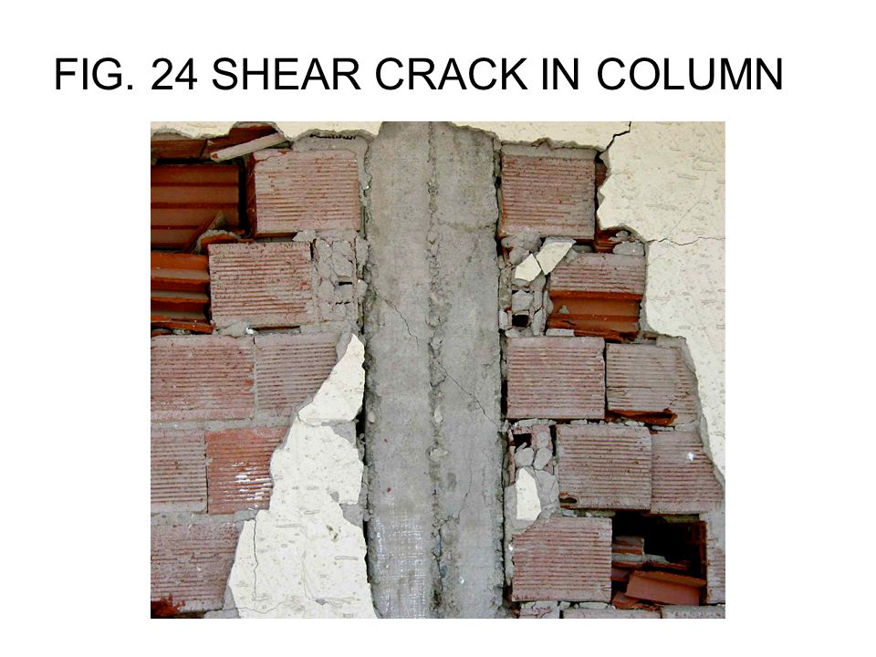 FIG. 37 INADEQUATE REINFORCEMENT IN SHEAR WALL (spacing > 30 cm.)