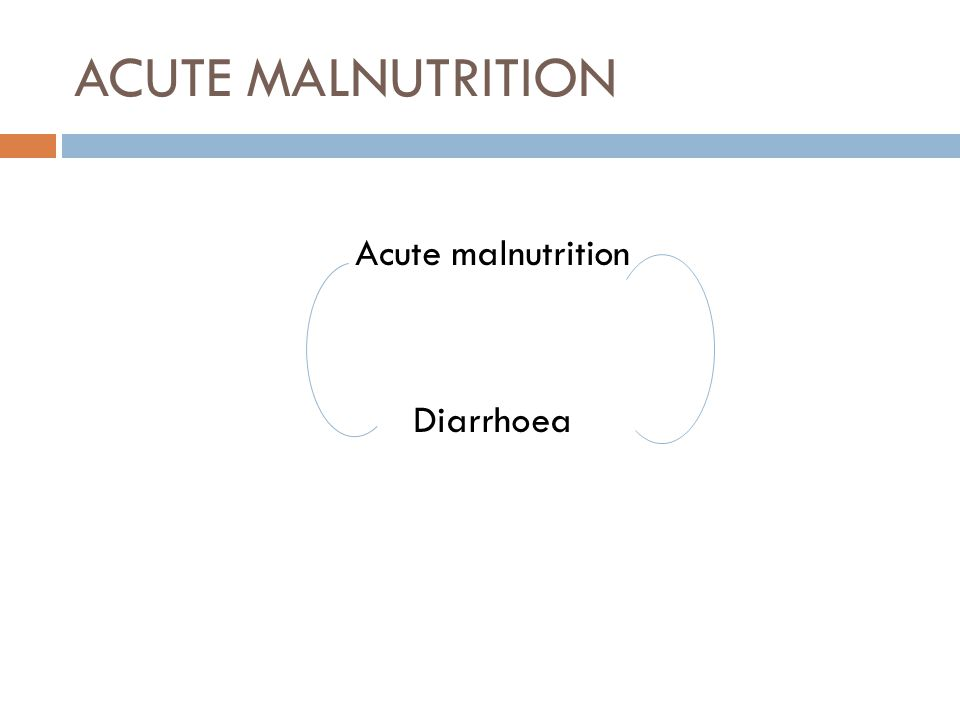MALNUTRITION  Acute 1.by weighing a child and measuring his or her height (wasting); 2.