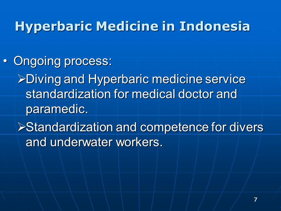 88 Hyperbaric facilities in Indonesia