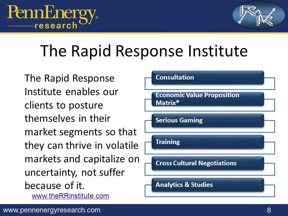 www.pennenergyresearch.com Getting Your Message Through Management is always busy New/disruptive technology is by definition not well understood A good demo may have helped this rep.