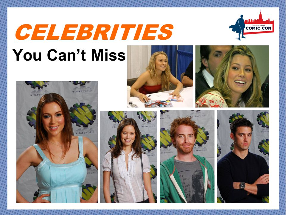 CELEBRITIES You Can't Miss