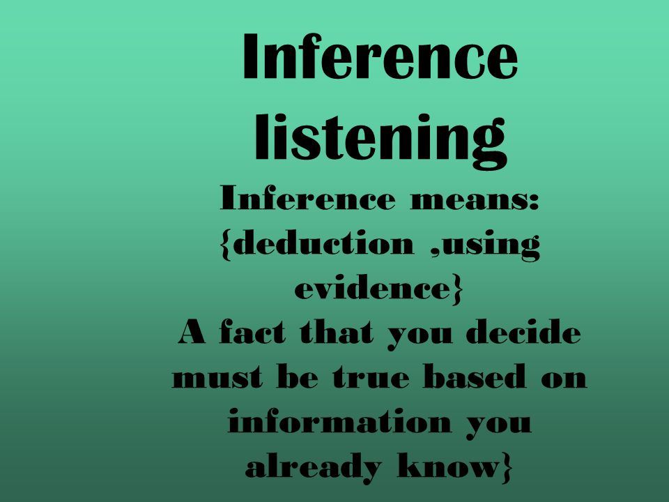 Listening for specific information is Not understanding everything. It is knowing what you need and catching it.}