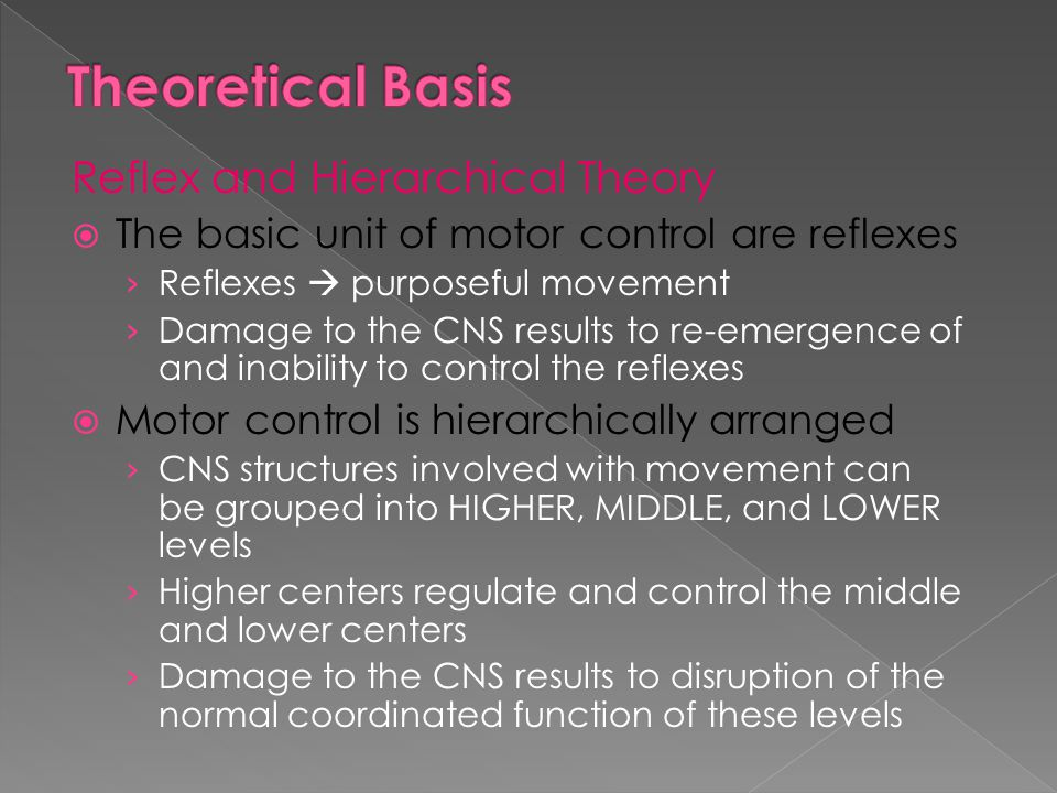  Reciprocal › Paired extremities move in opposite diagonal pattern and direction › Promotes head, neck, and trunk stability
